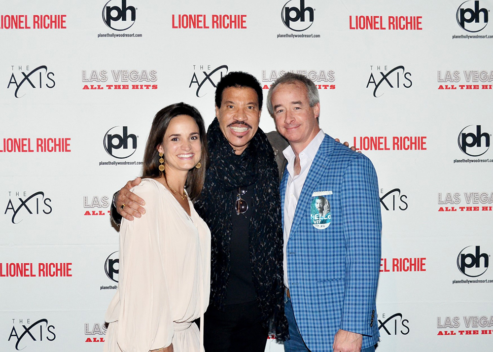 J. Blake Young III and his wife with Lionel Richie in Las Vegas
